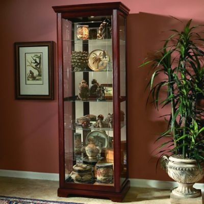 Pulaski 2-Way Sliding Door Curio in Victorian Cherry