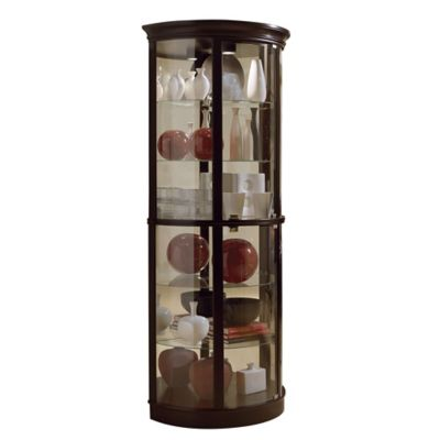 Pulaski Half-Round Curio in Chocolate Cherry II