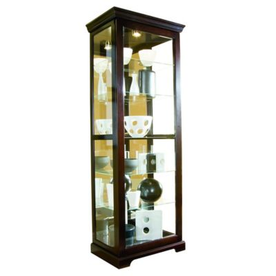 Pulaski 2-Way Sliding Door Curio in Chocolate Cherry II