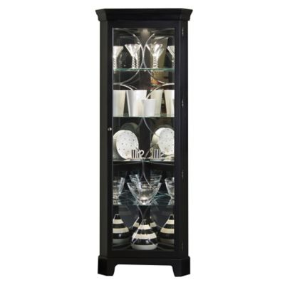 Pulaski Corner Curio in Oxford Black