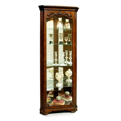 Pulaski Corner Curio in Eden House Brown