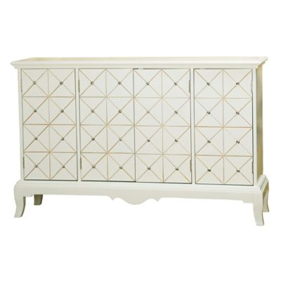Pulaski Diamond Pattern Credenza in White