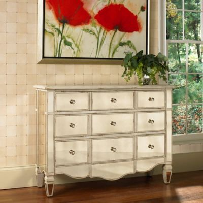 Pulaski Mirrored Accent Chest in Silver