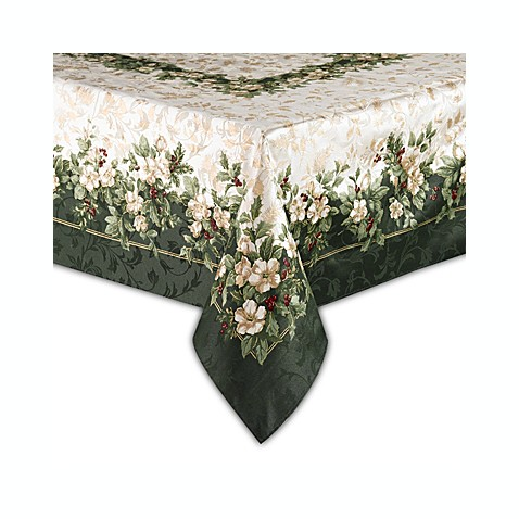 Buy Joyous Holiday 70 Inch Round Tablecloth From Bed Bath