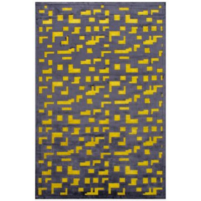 Jaipur Fables Pixel 2-Foot x 3-Foot Area Rug in Black/Yellow
