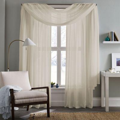 Real Simple® Thermalight™ Energy Efficient 63-Inch Crushed Voile Window Panel in Aqua