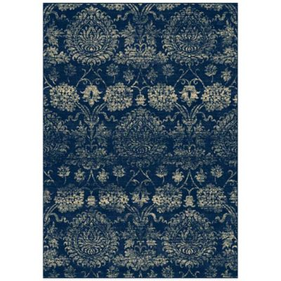 Radiance Damask 6-Foot 6-Inch X 9-Foot 10-Inch Area Rug in Blue