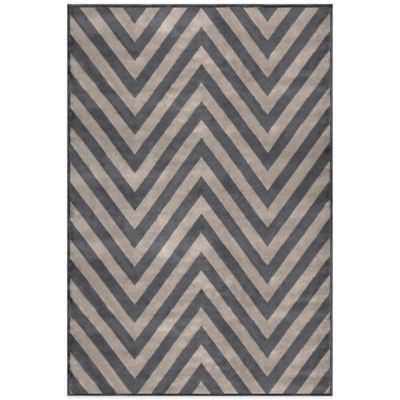 Radiance Chevron 6-Foot 6-Inch X 9-Foot 10-Inch Area Rug in Grey/White