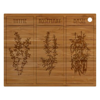 Totally Bamboo Herb Cut N Serve Board