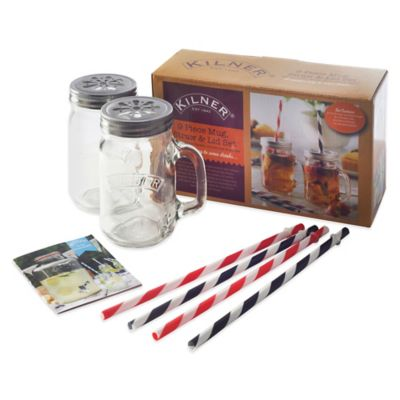 Kilner® 9-Piece Mug, Lid & Straw Set
