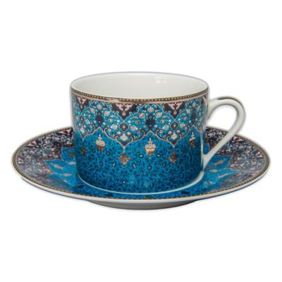 Philippe Deshoulieres Dhara Tea Cup in Peacock Blue