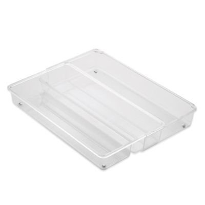 InterDesign® Linus Acrylic Expandable Drawer Organizer