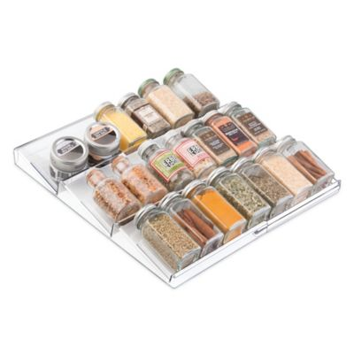 InterDesign® Linus Acrylic Expandable Spice Rack