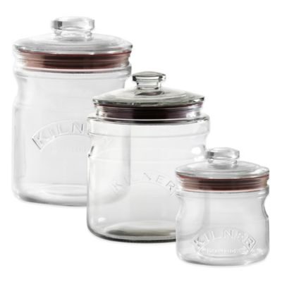 Kilner® 22 oz. Push Top Glass Storage Jar