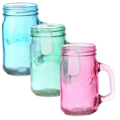Kilner® 13.5 oz. Handled Jar in Blue