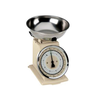 Typhoon® Retro Kitchen Food Scale in Cream