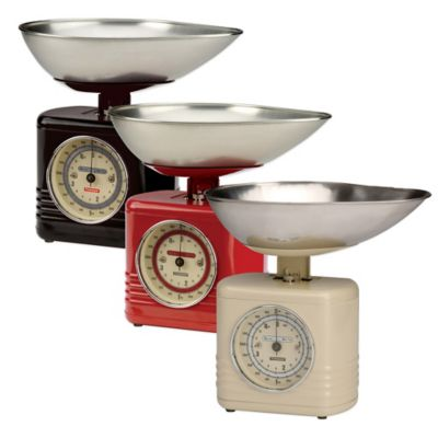 Typhoon® Vintage Kitchen Food Scale in Red