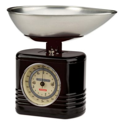 Typhoon® Vintage Kitchen Food Scale in Black