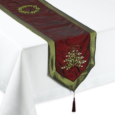 Christmas Tree Ribbon Table Runner