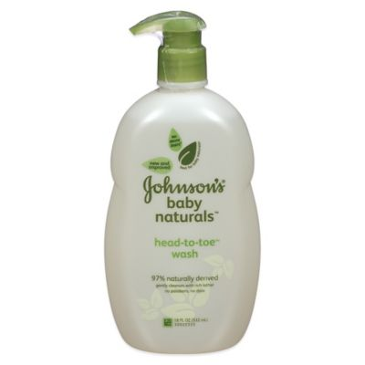 Johnson's® Natural™ 18 oz. Head-To-Toe™ Foaming Baby Wash