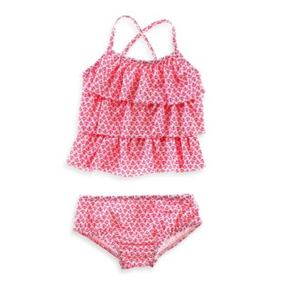 Carter's® Size 24M 2-Piece Anchor Print Tankini Set in White/Pink