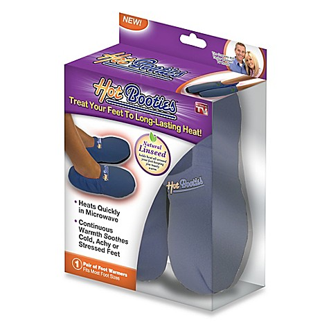 Hot Booties™ Microwavable Slippers - Blue