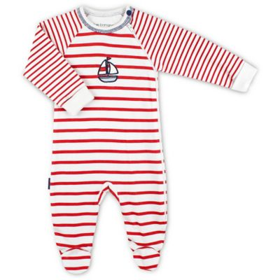 Kushies Blue Banana™ Size 3M Side Zip Tiny Sailor Sleeper in Red Stripe