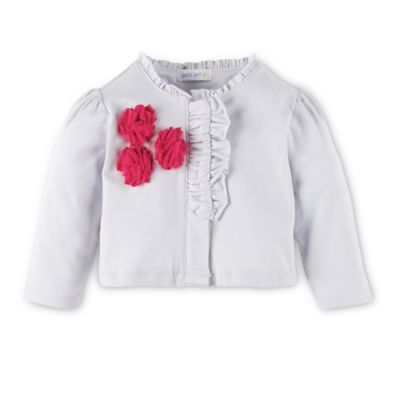 Petit Lem™ Perfume Diva Size 3M Cardigan with Ruffle Detail in Grey/Pink