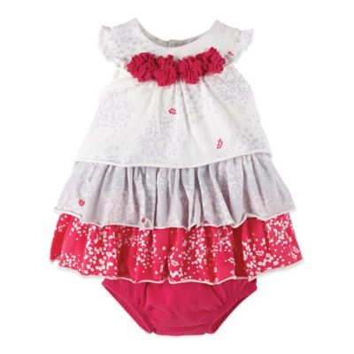 Petit Lem™ Perfume Diva Size 6M 2-Piece Sleeveless Dress and Diaper Cover Set in Red/White