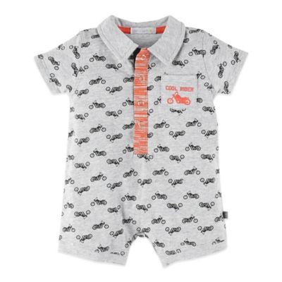 Petit Lem™ Size 9M Motorcycle Short Sleeve Romper in Grey/Black/Red