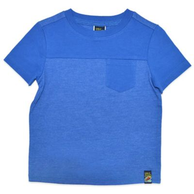 Charlie Rocket™ Size 4T Short Sleeve T-Shirt with Pocket in Blue