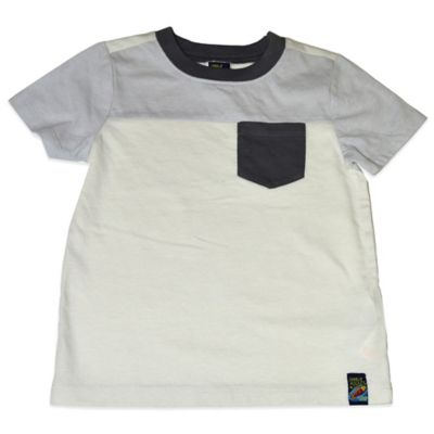 Charlie Rocket™ Size 18M Short Sleeve T-Shirt with Pocket in White/Grey