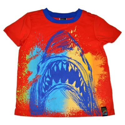 Charlie Rocket™ Size 12M Shark Bite Short Sleeve T-Shirt in Orange/Blue