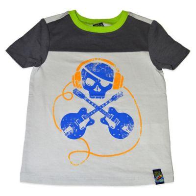 Charlie Rocket™ Size 3T Rockin' Skull Short Sleeve T-Shirt in Grey/Blue