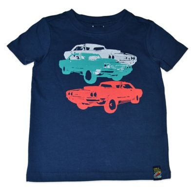 Charlie Rocket™ Size 12M Muscle Car Short Sleeve T-Shirt in Blue