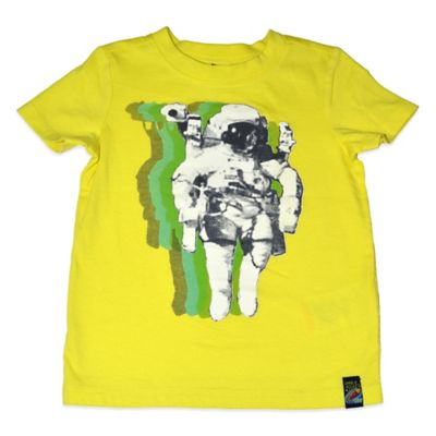 Charlie Rocket™ Size 4T Astronaut Short Sleeve T-Shirt in Yellow/Green