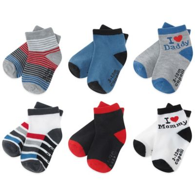 Capelli New York Size 12-24M 6-Pack Love Socks