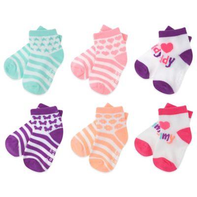 Capelli New York Size 12-24M 6-Pack Girls Love Socks