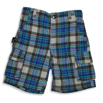 Charlie Rocket™ Size 3T Plaid Twill Cargo Short