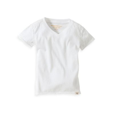 Burt's Bees Baby™ Organic Cotton Short Sleeve V-Neck T-Shirt in Cloud