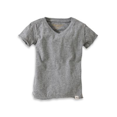 Burt's Bees Baby™ Organic Cotton Short Sleeve V-Neck T-Shirt in Heather Grey
