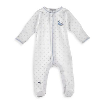 Magnolia Baby™ Newborn Puppy Playdate Pima Cotton Footie in White