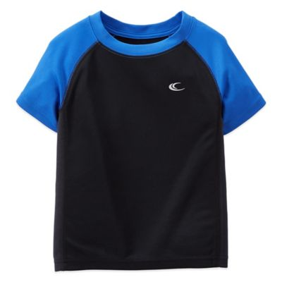 Carter's® Size 12M Short Sleeve Athletic T-Shirt in Black/Blue