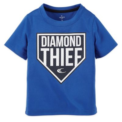 "Carter's® Size 6M ""Diamond Thief"" Short Sleeve T-Shirt in Blue/Black"