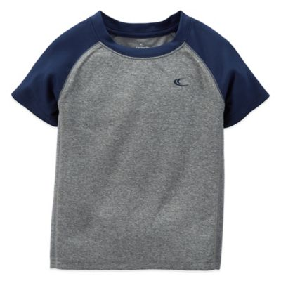 Carter's® Size 24M Short Sleeve Athletic T-Shirt in Grey/Navy
