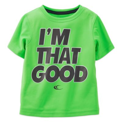 """Carter's® """"I'm That Good"""" Short Sleeve T-Shirt in Neon Green"""