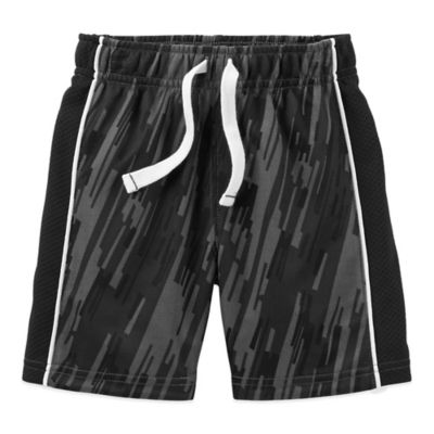 Carter's® Size 18M Breathable Mesh Short in Heather Grey with Black Stripe