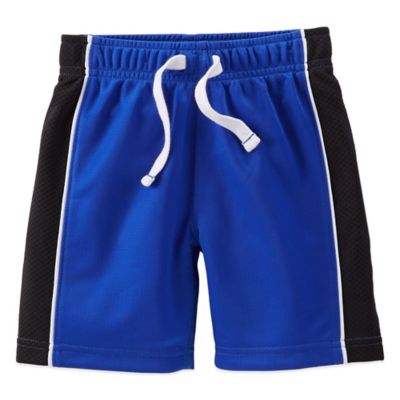 Carter's® Size 9M Breathable Mesh Short in Blue with Black Stripe