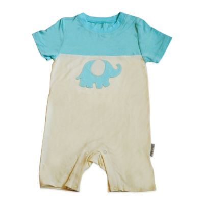 Silkberry Baby™ Size 3-6M Elephant Romper in Ivory/Pool