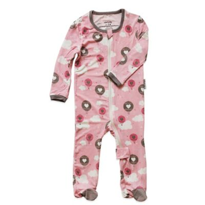 Silkberry Baby™ Size 3-6M Air Balloons Footie in Pink/Grey